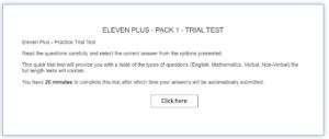 11 Plus Practice Test